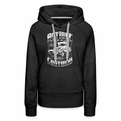 Hot Rod - Antique Customs (white) - Women's Premium Hoodie