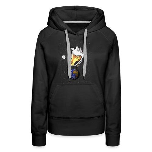 Giraffe im Weltraum - Frauen Premium Hoodie