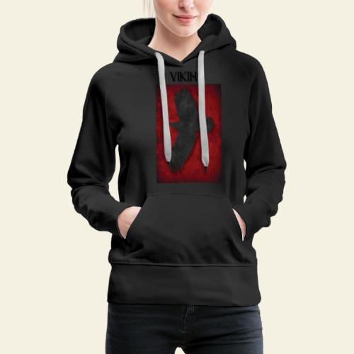 ravneflaget viking - Dame Premium hættetrøje