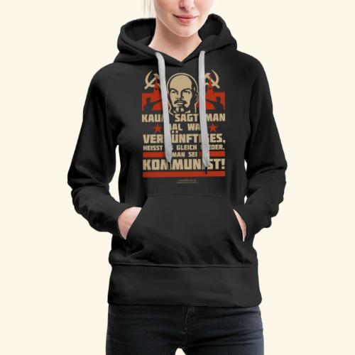 Sprüche T-Shirt Lenin Kommunist - Frauen Premium Hoodie