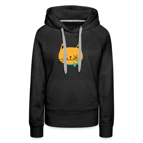 cat - Sweat-shirt à capuche Premium pour femmes
