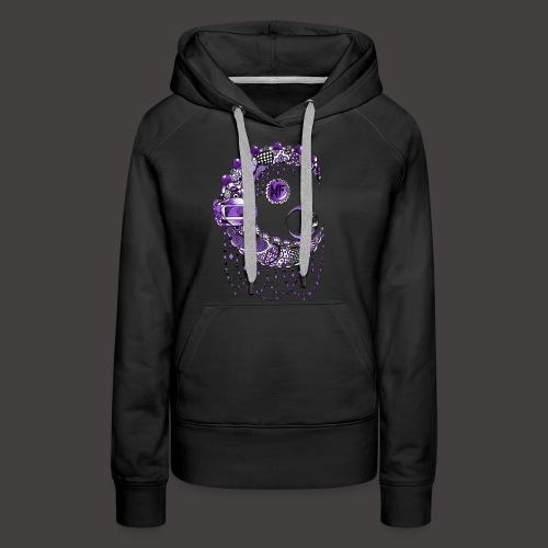 Lune dentelle Violette - Sweat-shirt à capuche Premium pour femmes