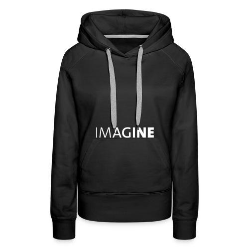 Logo IMAGINE weiß - Frauen Premium Hoodie