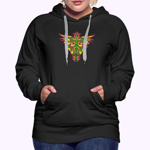 Pájaro de fuego maorí - Sudadera con capucha premium para mujer