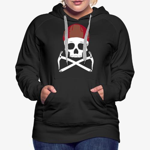 Climber Pirats skull white - Women's Premium Hoodie