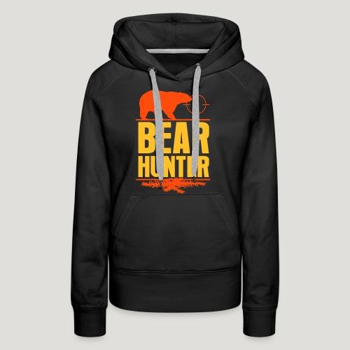 Jäger Shirt Bären Jäger - Bear Hunter Jagd Wild - Frauen Premium Hoodie