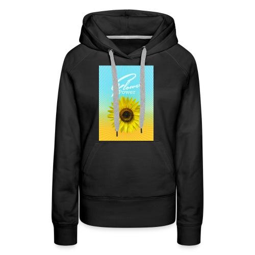 Sonnenblume Sommer Sonnenstrahlen glücklich hygge - Women's Premium Hoodie