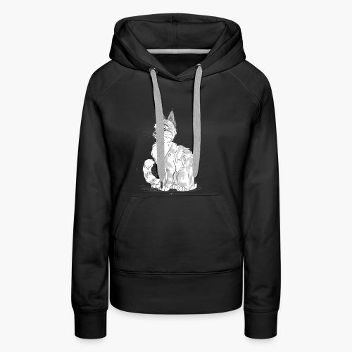 Punky the cat - Sweat-shirt à capuche Premium pour femmes
