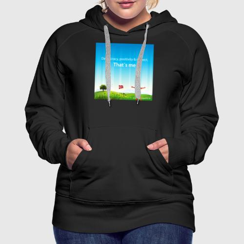 Rolling hills tshirt - Dame Premium hættetrøje