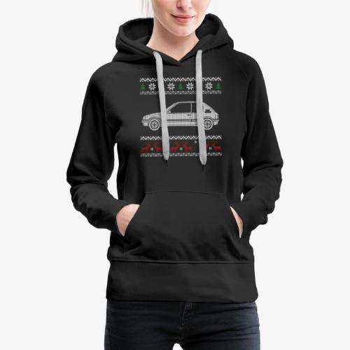 205 gti pull tricot noel - Sweat-shirt à capuche Premium pour femmes