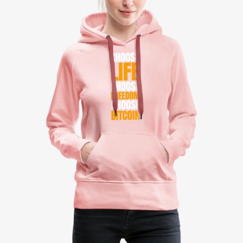 crypto bitcoin cryptocurrency cryptomonnaie - Sweat-shirt à capuche Premium pour femmes