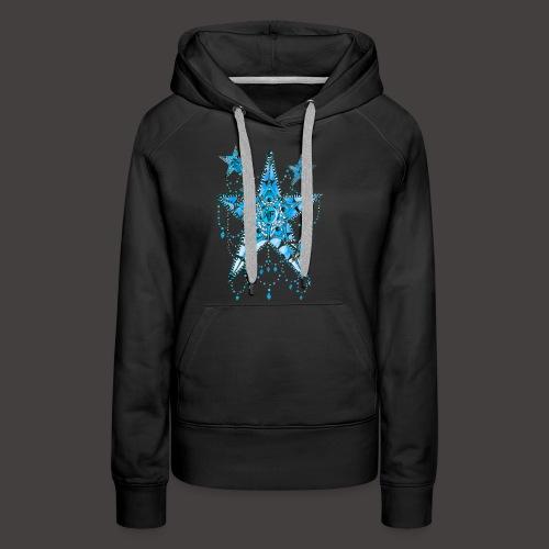 ETOILE DENTELLE BLEUE - Sweat-shirt à capuche Premium pour femmes
