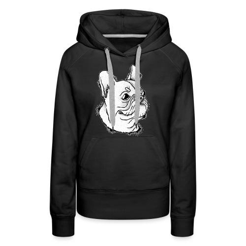Französische Bulldogge Kopf - Frauen Premium Hoodie