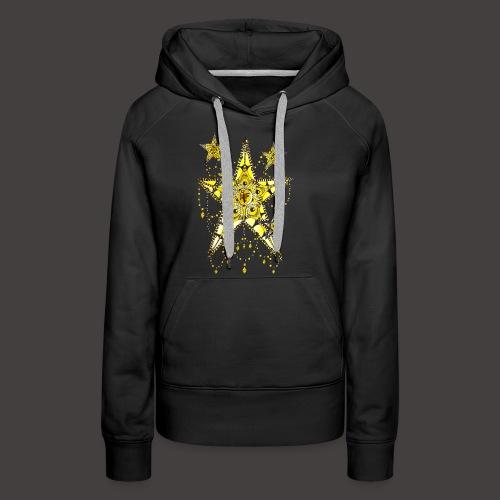 ETOILE DENTELLE JAUNE - Sweat-shirt à capuche Premium pour femmes