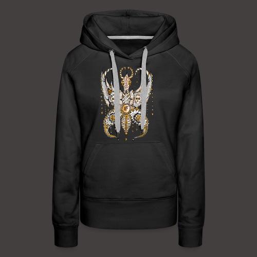 Papillon Lilou Dore - Sweat-shirt à capuche Premium pour femmes