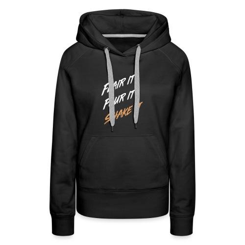 flair it - Sweat-shirt à capuche Premium pour femmes
