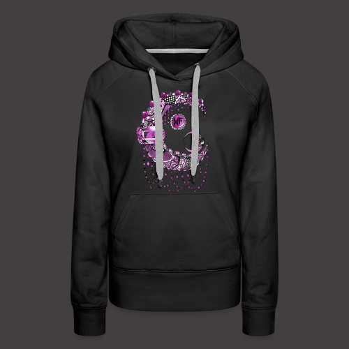 Lune dentelle Rose - Sweat-shirt à capuche Premium pour femmes
