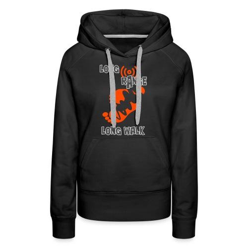 long range long walk png - Sweat-shirt à capuche Premium pour femmes