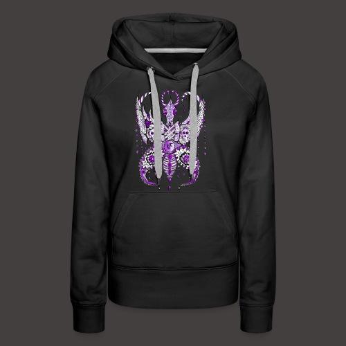 Papillon Lilou Violet - Sweat-shirt à capuche Premium pour femmes