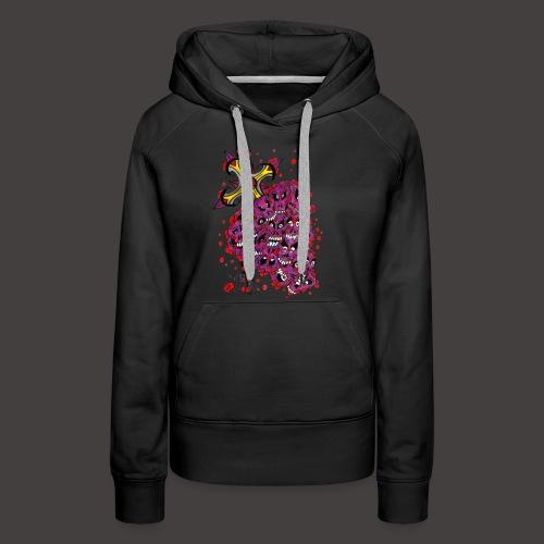 Cross Grapes - Sweat-shirt à capuche Premium pour femmes