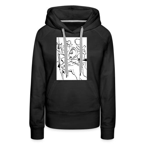 Quijote - Sudadera con capucha premium para mujer