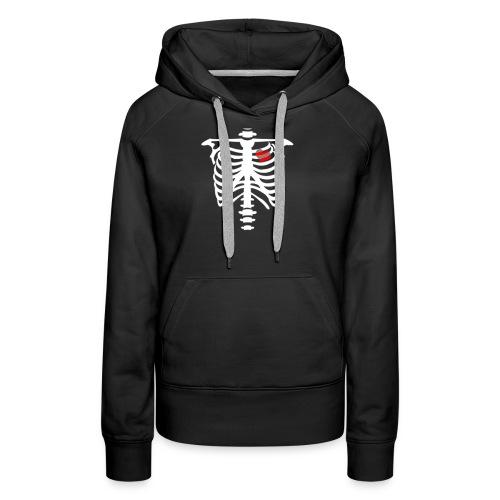 skull heart - Sweat-shirt à capuche Premium pour femmes