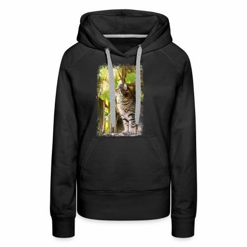 Katze im Wein - Frauen Premium Hoodie