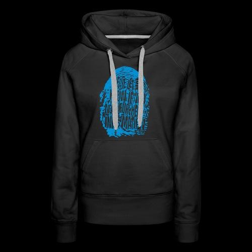 DNA, odcisków palców (niebieski) - Bluza damska Premium z kapturem