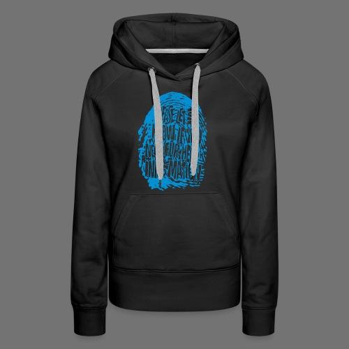Fingerprint DNA (blå) - Dame Premium hættetrøje