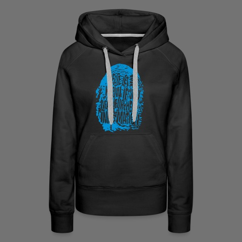 Fingerprint DNA (blue) - Women's Premium Hoodie