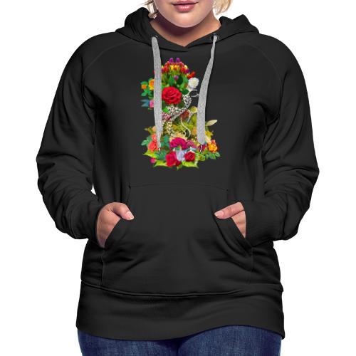 Lady flower - Sweat-shirt à capuche Premium pour femmes