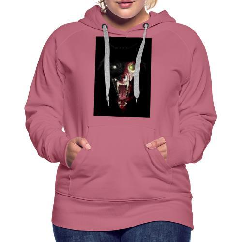 Zombie Wolf - Sweat-shirt à capuche Premium pour femmes