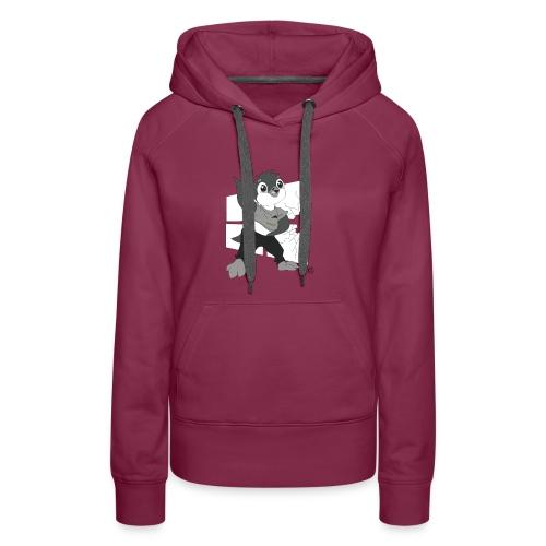 Le pingouin de Nice - Sweat-shirt à capuche Premium pour femmes