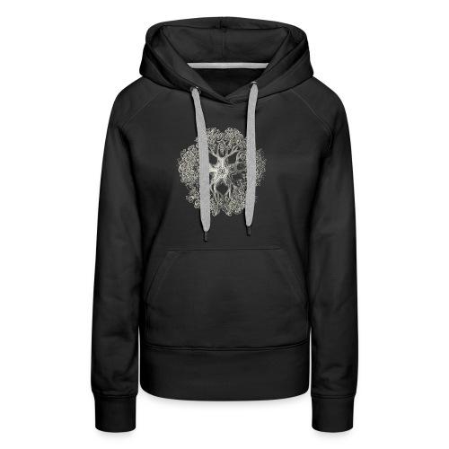 psychedelic art stitch - Sweat-shirt à capuche Premium pour femmes