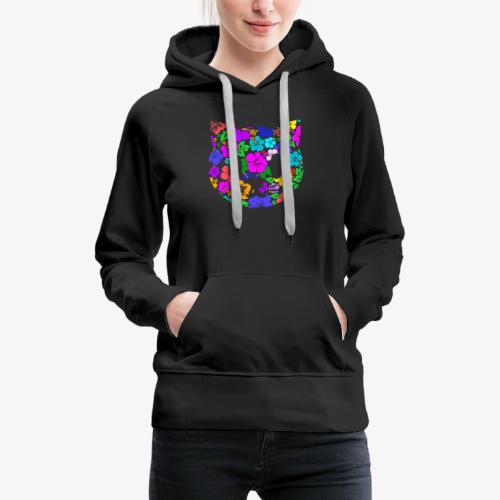 Color Tropicat - Sweat-shirt à capuche Premium pour femmes