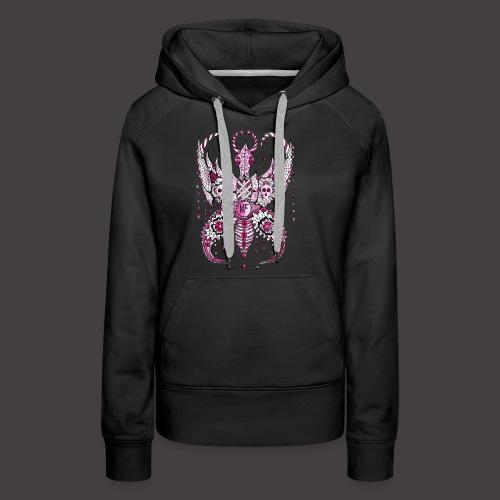 Papillon Lilou Rose - Sweat-shirt à capuche Premium pour femmes