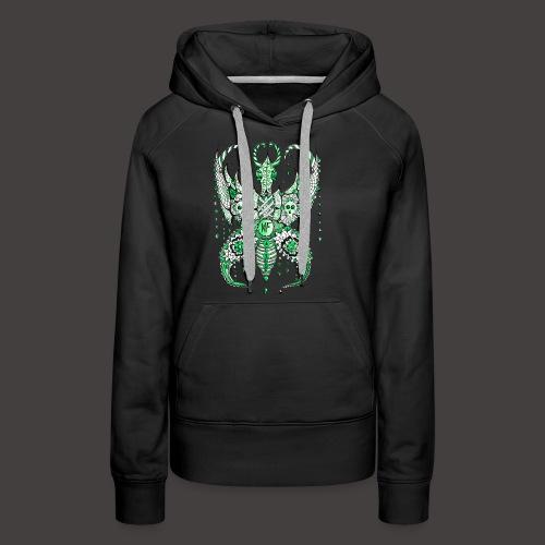 Papillon Lilou Vert - Sweat-shirt à capuche Premium pour femmes