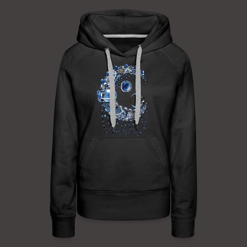 Lune dentelle bleue fonce - Sweat-shirt à capuche Premium pour femmes