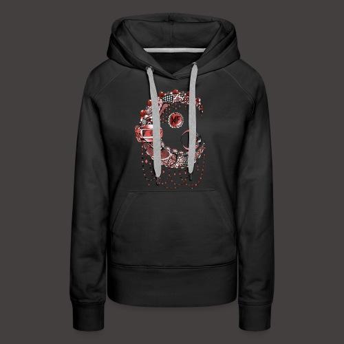 Lune dentelle Rouge - Sweat-shirt à capuche Premium pour femmes