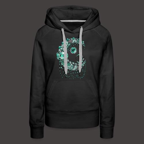 Lune dentelle Turquoise - Sweat-shirt à capuche Premium pour femmes