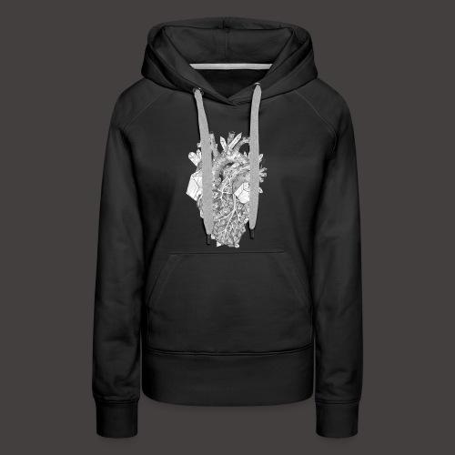 Le Coeur de Cristal - Sweat-shirt à capuche Premium pour femmes