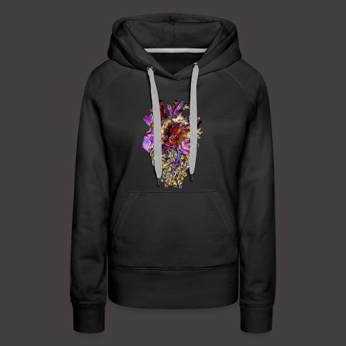 Le Coeur de Cristal Creepy - Sweat-shirt à capuche Premium pour femmes