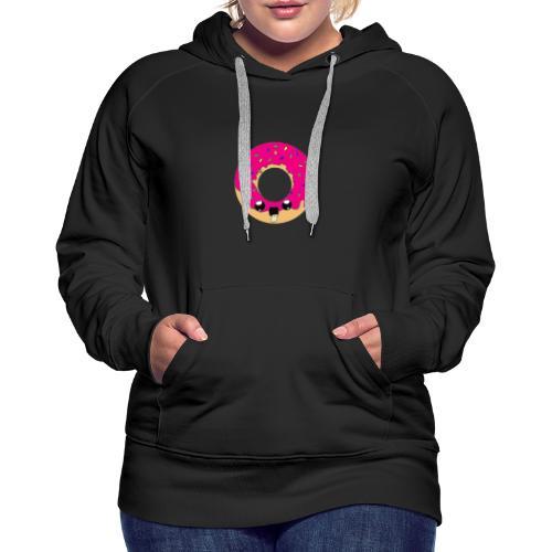 donut2 red - Sweat-shirt à capuche Premium pour femmes