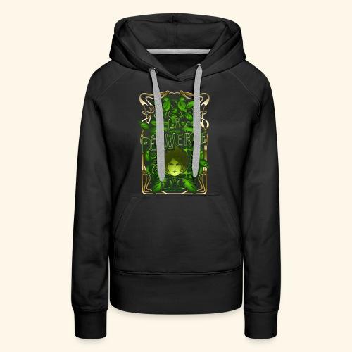 Absinth T Shirt Design La Fée Verte Art Nouveau - Frauen Premium Hoodie