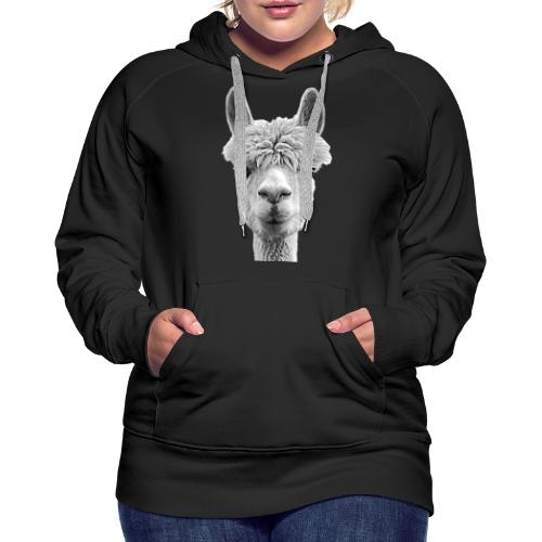 Alpaka Lama Kamel Peru Anden Südamerika Wolle - Frauen Premium Hoodie