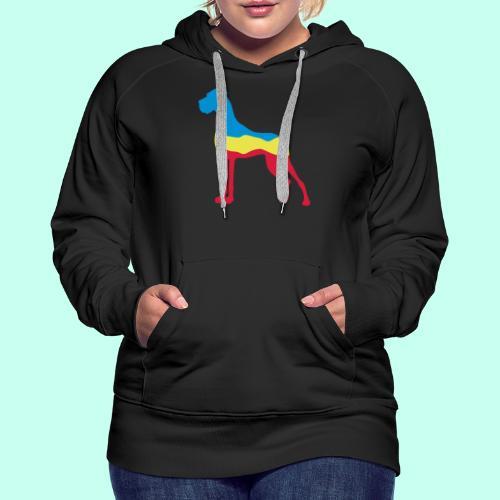 Flaggen Dogge - Frauen Premium Hoodie