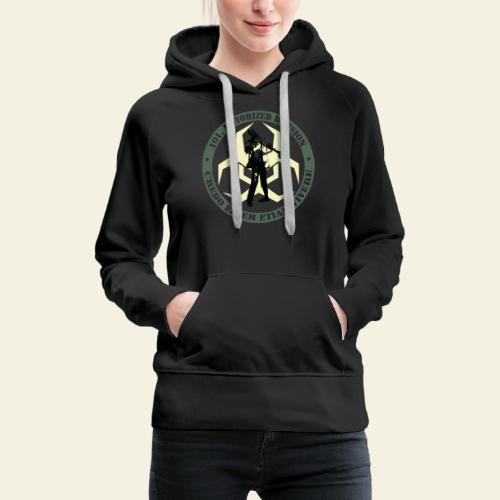 zombieresponseteam logo - Dame Premium hættetrøje