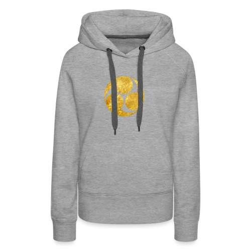 Kobayakawa Mon Japanese clan gold on black - Women's Premium Hoodie