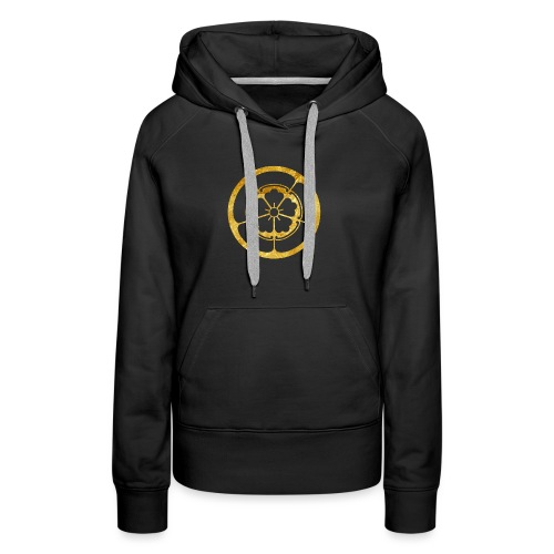 Oda Mon Japanese samurai clan in gold - Women's Premium Hoodie