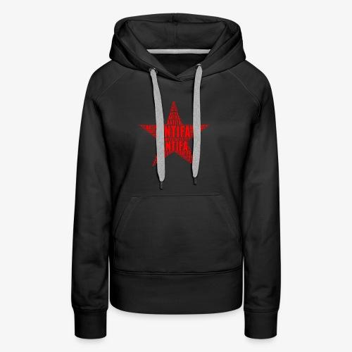 Roter Stern Antifa - Frauen Premium Hoodie